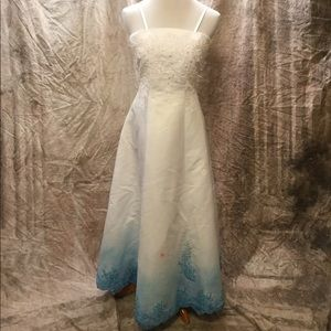 Something Blue  Dip Dyed Wedding/Prom Dress